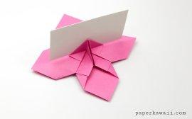 Origami Flower Card Holder Instructions via @paper_kawaii