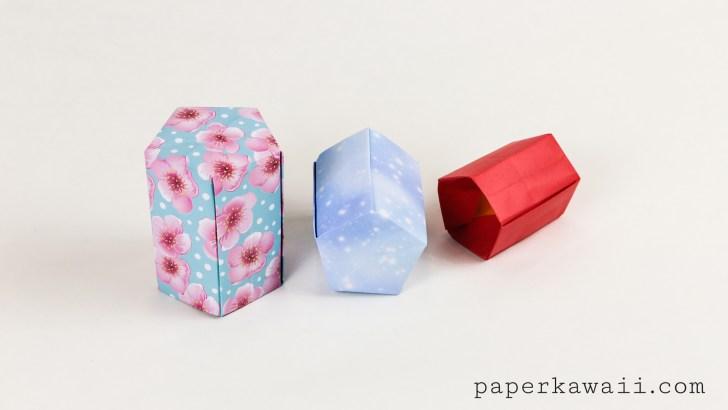Tall Origami Pot Tutorial - Five Sided via @paper_kawaii