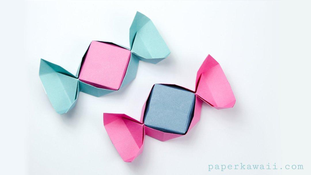 Easy Origami Candy Box Instructions via @paper_kawaii