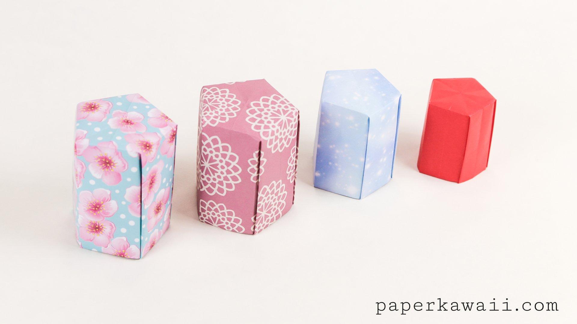 Tall Origami Pot Tutorial