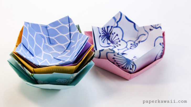 Origami Flower Bowls 03