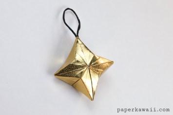 3D Origami Puffy Star Tutorial #oriagmi #diy #star