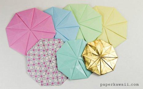 Origami Octagonal Tato Coaster - Video & Diagram via @paper_kawaii