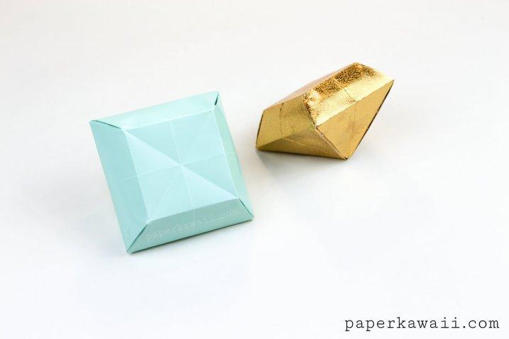 Origami Paper Crystal Tutorial - Make 3D Gems! #DIY #papercrystal #origami