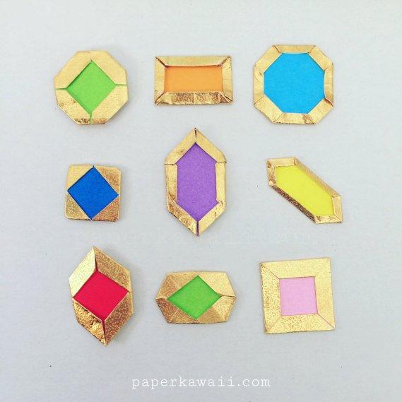 How to make Origami Jewels & Gemstones