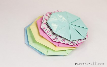 Origami Octagonal Tato Coaster – Video & Diagram