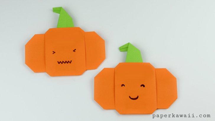 Easy Origami Pumpkin Tutorial For Halloween! via @paper_kawaii