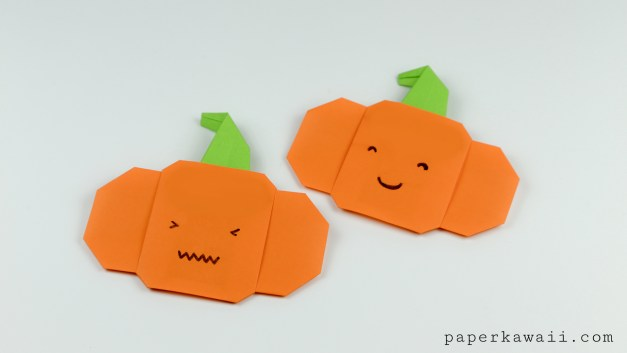 Easy Origami Pumpkin Tutorial For Halloween!