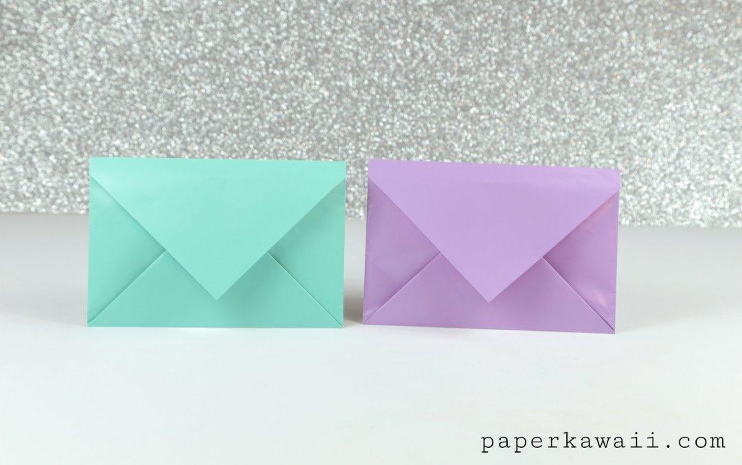 Simple Origami Envelope Video Tutorial via @paper_kawaii