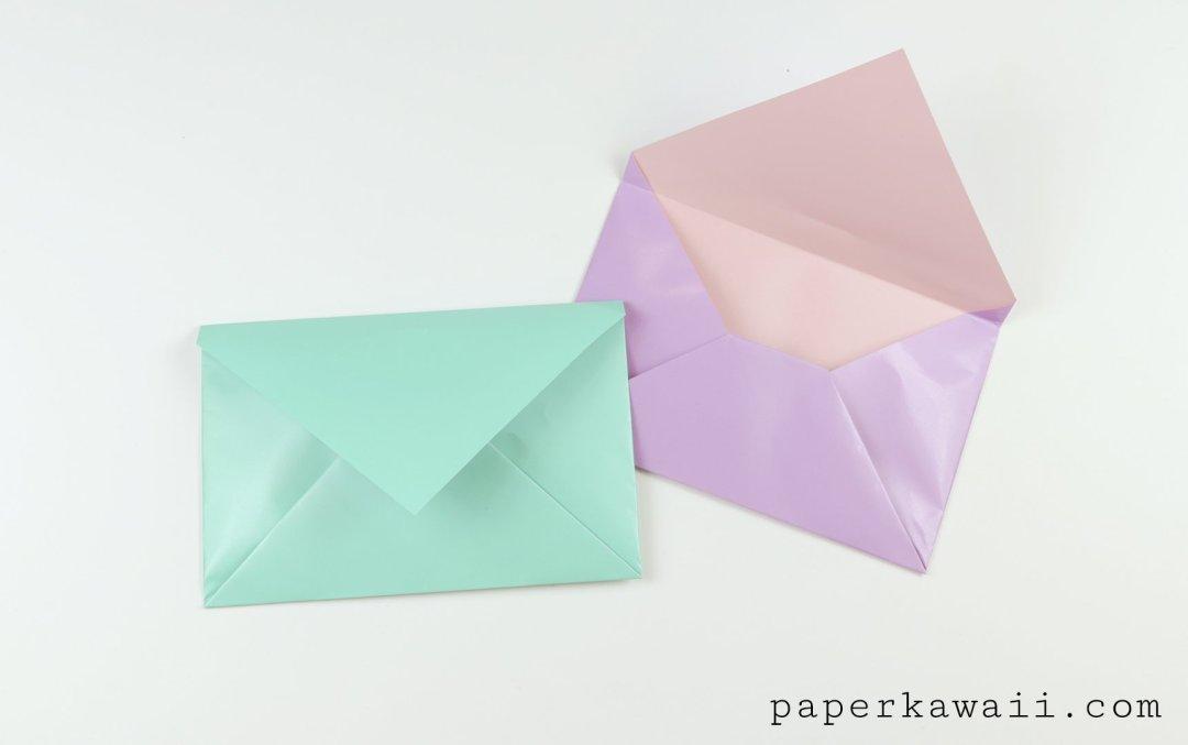 simple origami envelope video tutorial paper kawaii