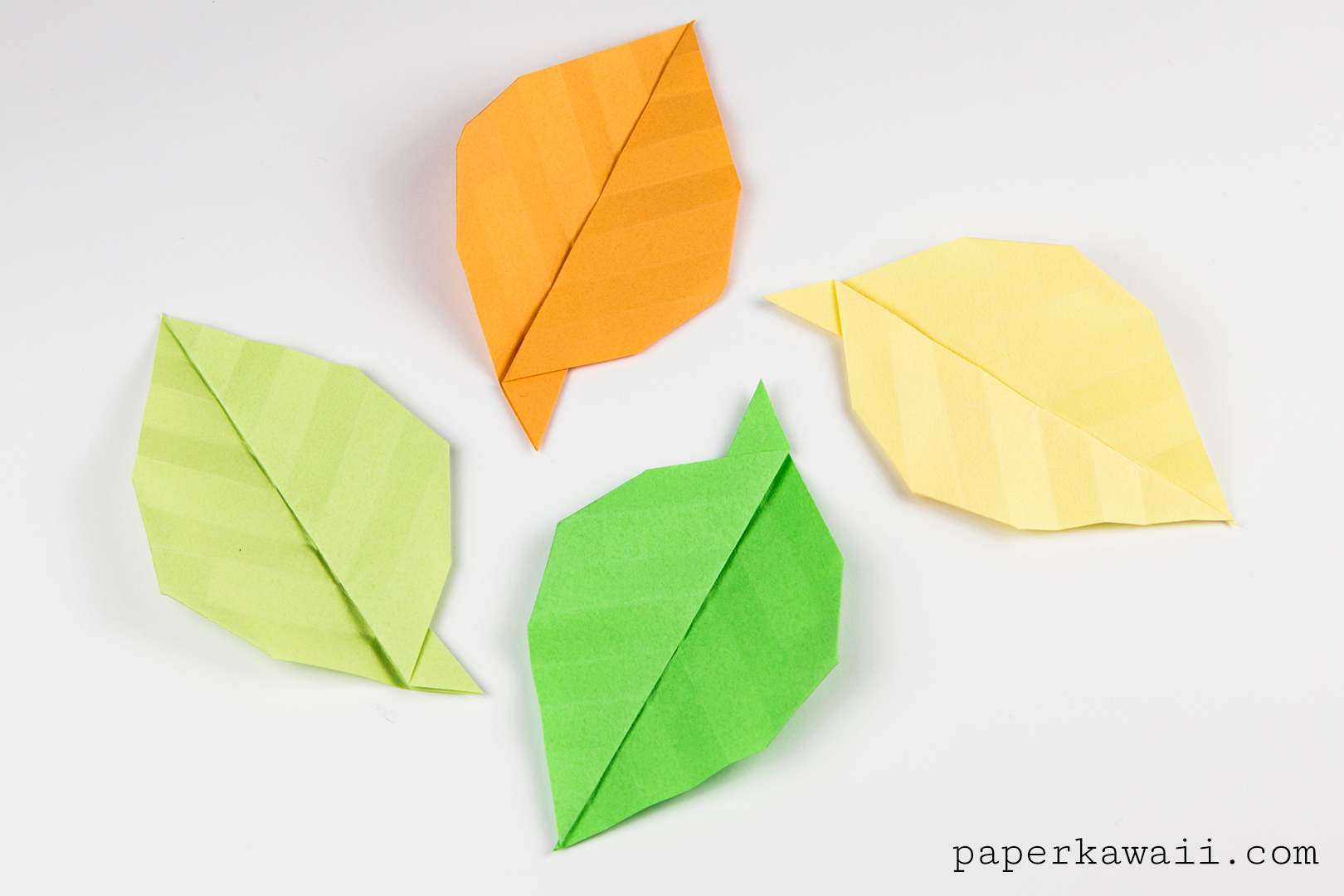 Simple Origami Leaf Instructions - Video Tutorial - Paper ... - photo#28