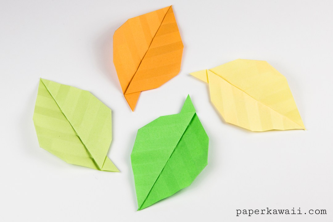 Simple origami leaf instructions video tutorial paper kawaii simple origami leaf instructions video tutorial mightylinksfo