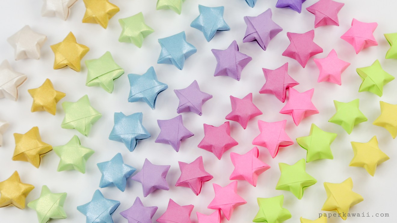 Origami Lucky Stars Tutorial - Easy & Fun via @paper_kawaii