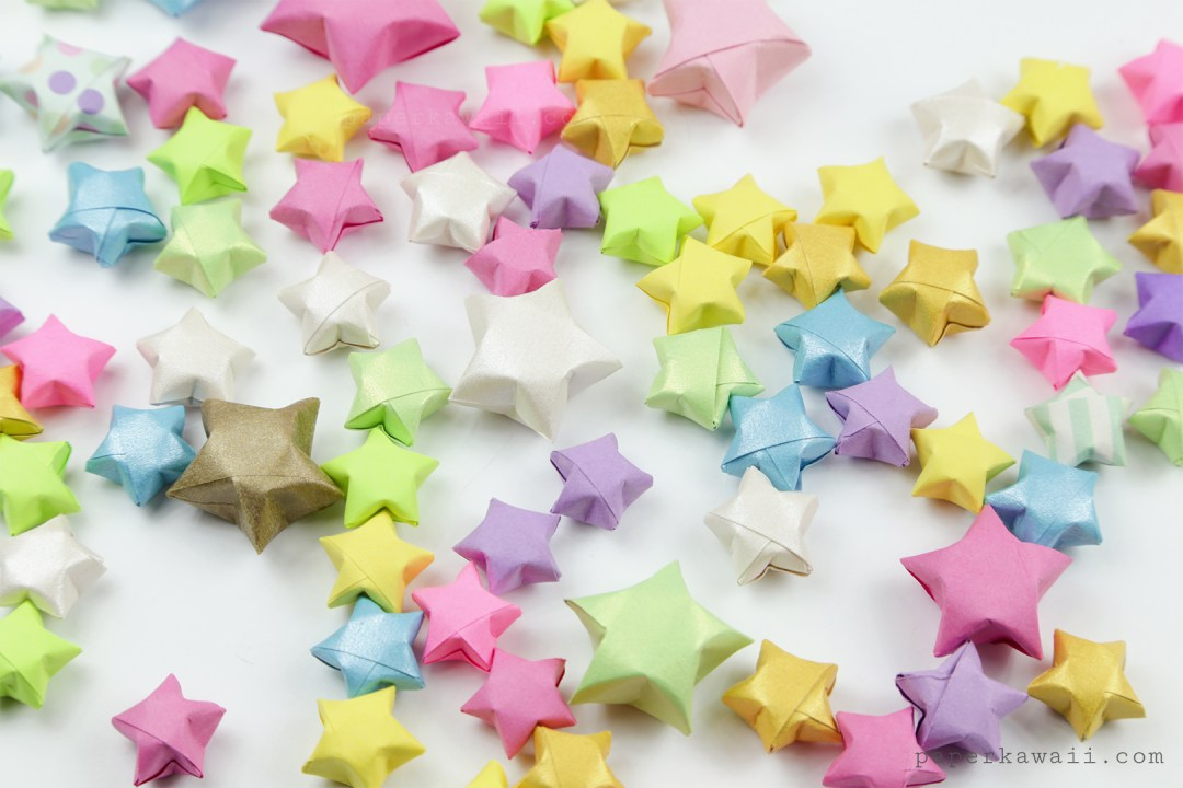 Origami Lucky Stars Tutorial - Easy & Fun! via @paper_kawaii