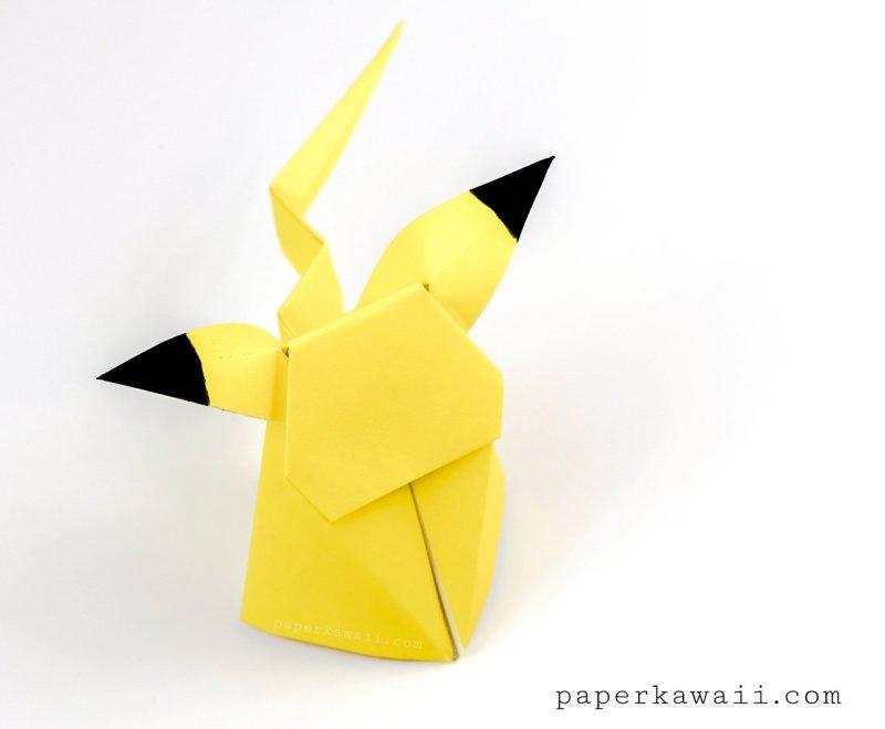 Origami Pikachu Tutorial ☆ Pokemon DIY ☆ Paper Kawaii - YouTube | 659x800