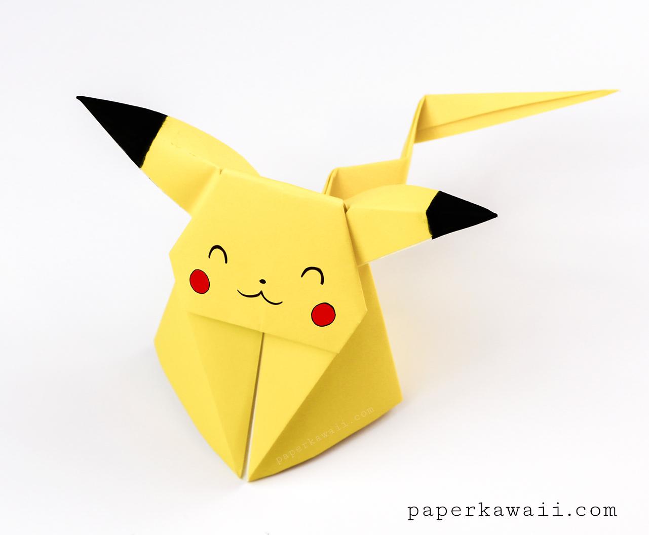 Origami Pikachu Tutorial Cute Origami Pokemon Paper Kawaii