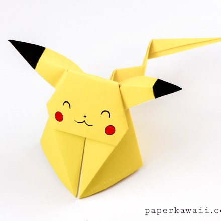 Pikachu Origami Cube - Cute Pokemon via @paper_kawaii