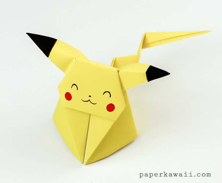 Origami Pikachu Tutorial Cute Origami Pokemon Paper Kawaii
