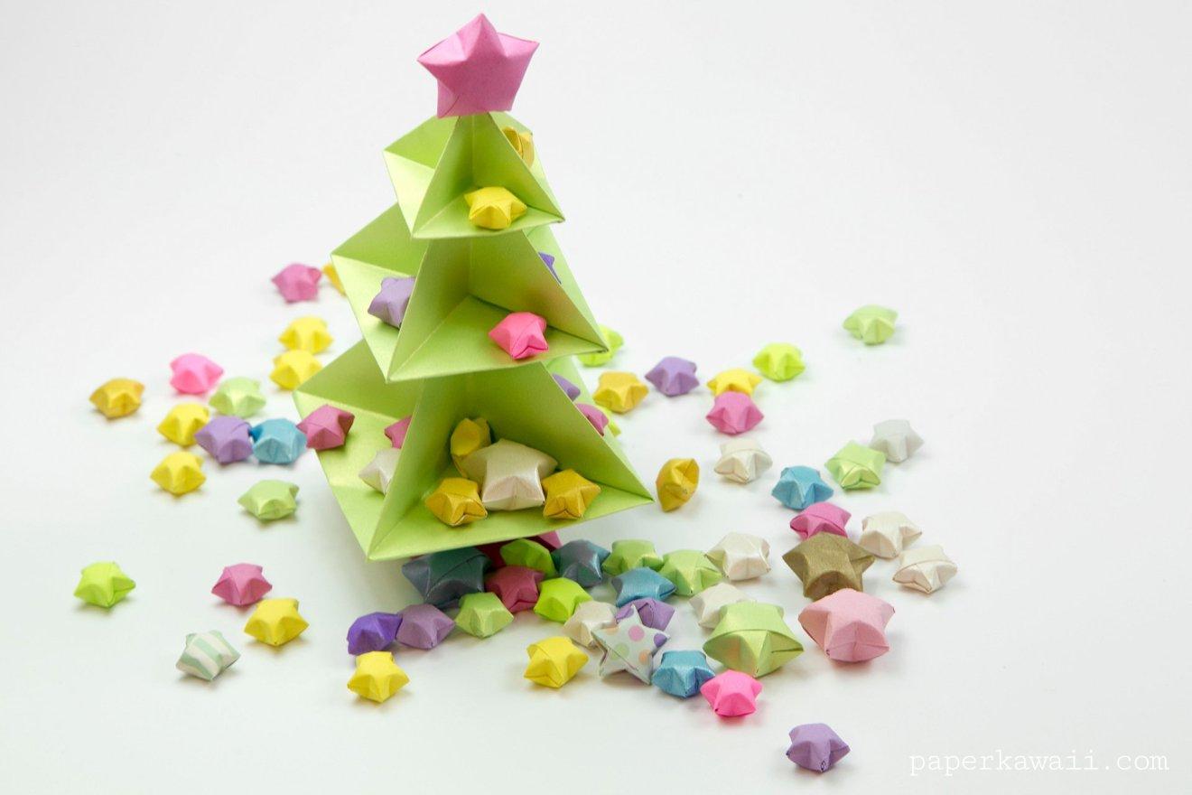 Origami Christmas Tree Tutorial via @paper_kawaii