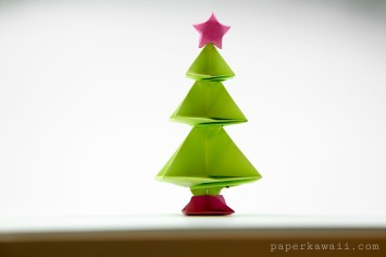 Stacked origami Christmas tree!