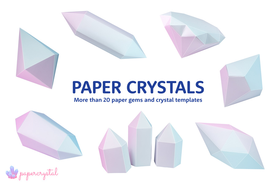 PRINTABLE PAPER GEMS & CRYSTALS
