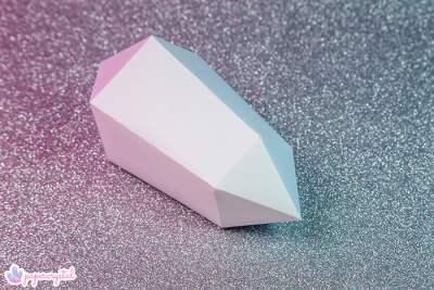 paper-crystal-printable-gem-templates-warped-bipyramid-pink