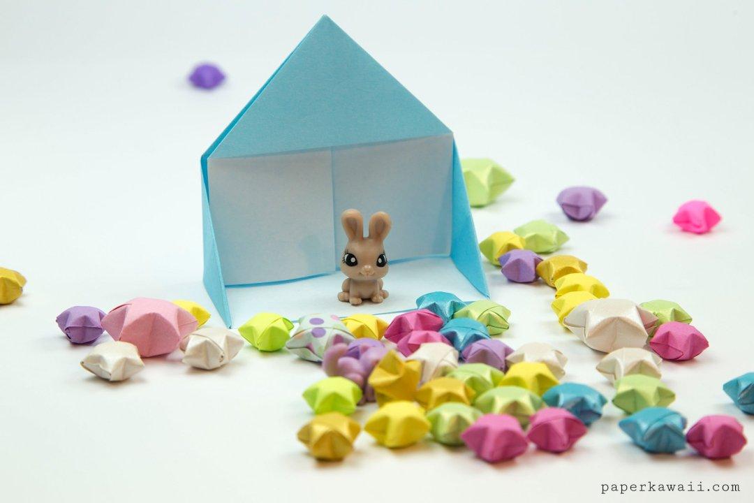 Easy Origami Dollhouse Tutorial