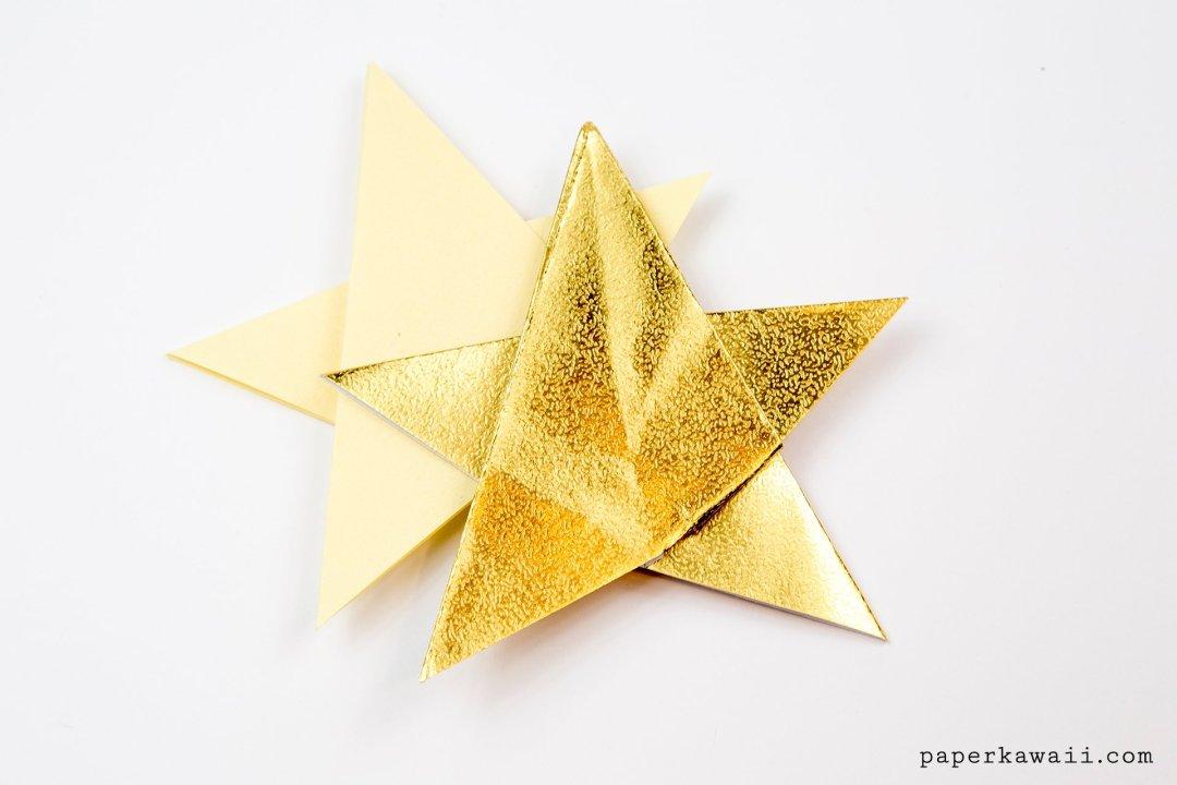Simple Origami 5 Point Star Tutorial - 1 Sheet via @paper_kawaii