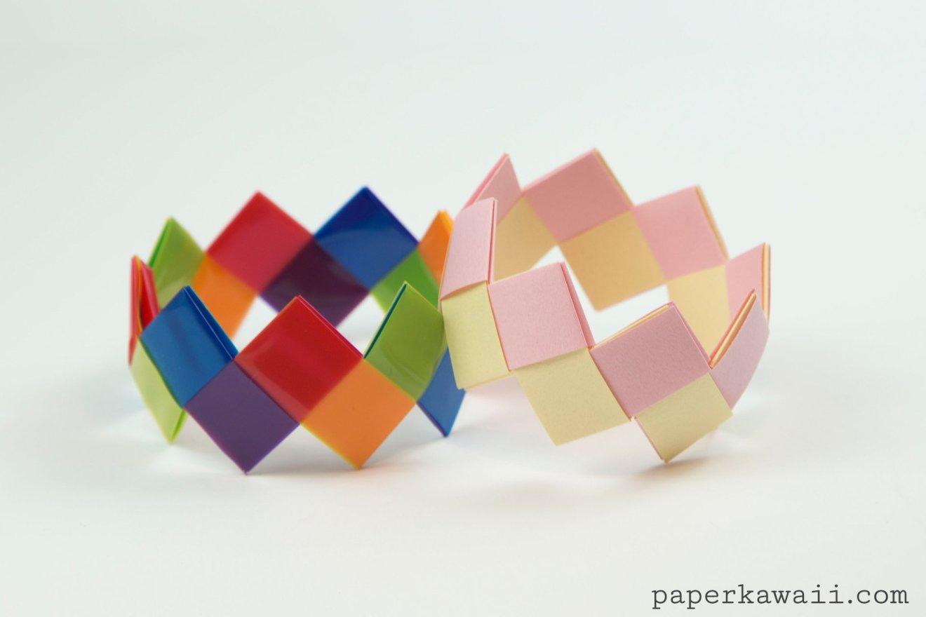 Modular Origami Bracelet Tutorial - Easy & Pretty via @paper_kawaii