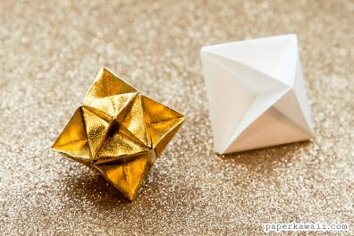 Origami Cube Star Decoration Tutorial