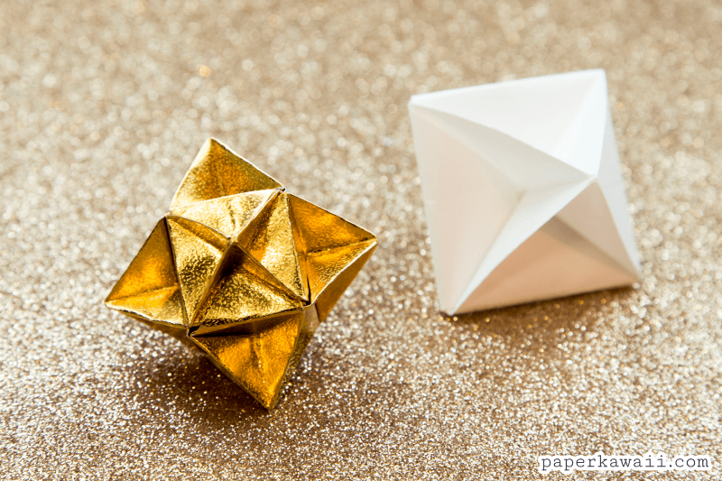 Origami Compass Star Tato Variation Tutorial via @paper_kawaii