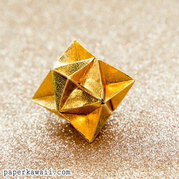 Origami Cube Star Decoration Tutorial - Paper Kawaii - photo#16
