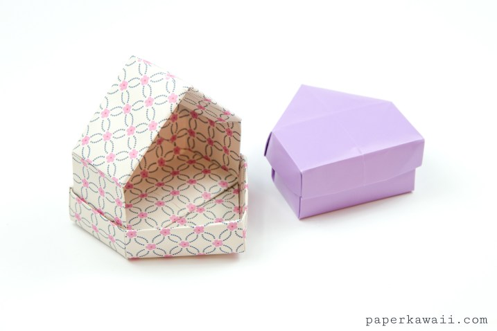 Origami House Box Tutorial - Cute Gift Box