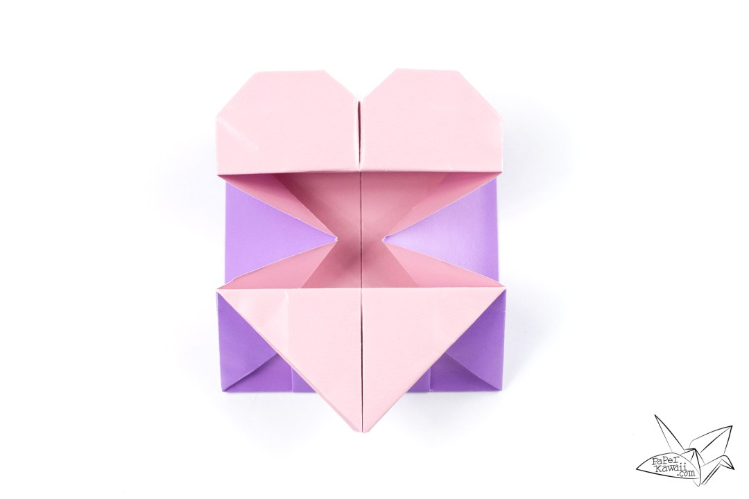 Origami Opening Heart Box Envelope Tutorial Paper Kawaii