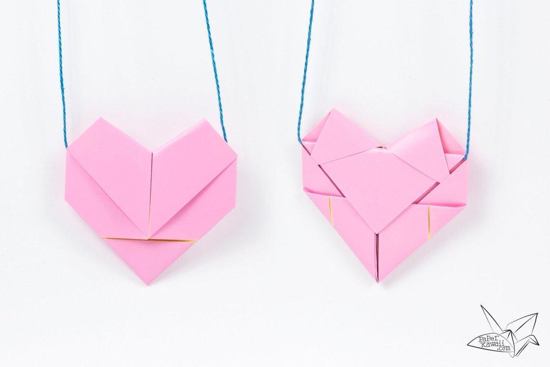 Heart Letterfold via @paper_kawaii