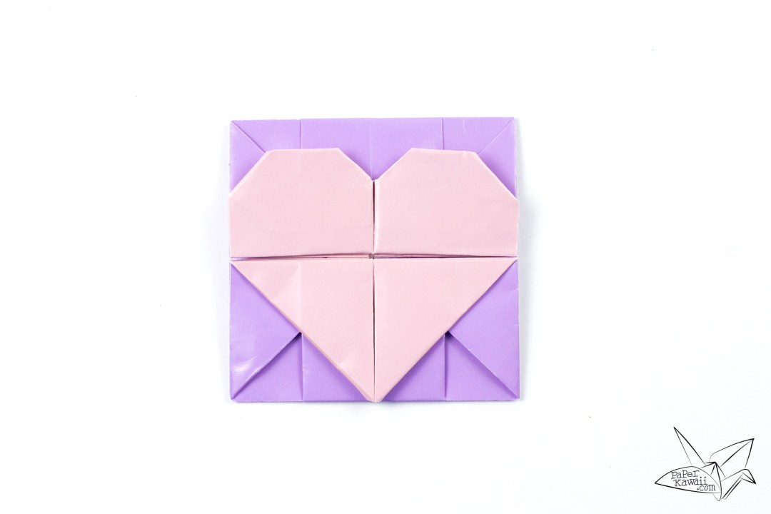 Origami Opening Heart Box / Envelope Tutorial