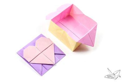 Origami Opening Heart Box Envelope Tutorial