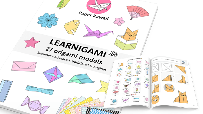 Origami Diagrams via @paper_kawaii