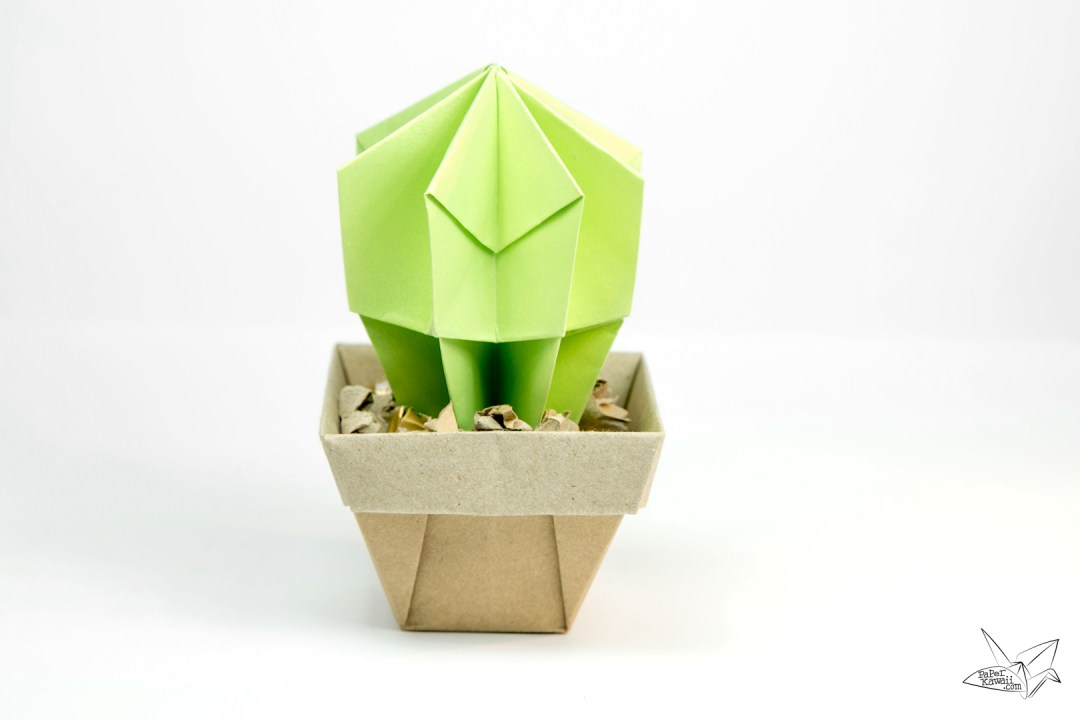 Origami Cactus Tutorial - Paper Kawaii - photo#29