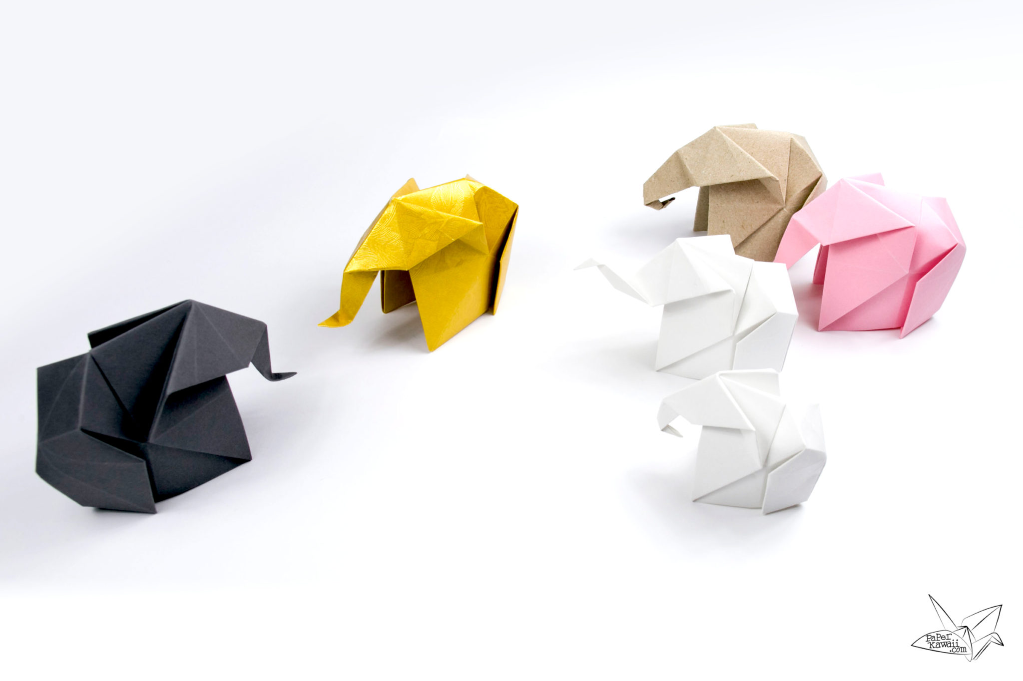 How to make a Paper Elephant: Easy Origami Elephant Instructions | 1364x2048