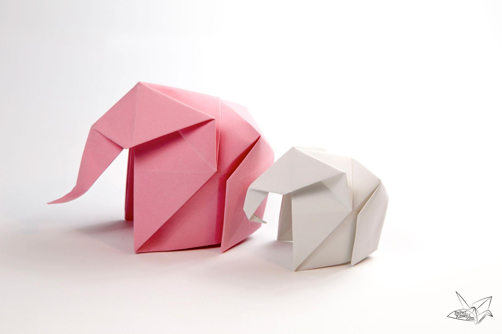 Origami: Baby Elephant ( Fumiaki Kawahata ) - YouTube | 1080x1621