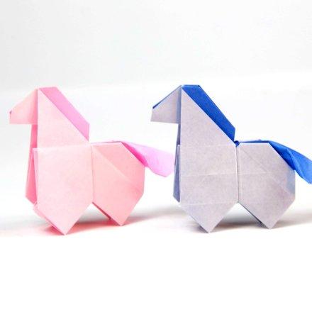 Origami Horse Tutorial - Cute Origami Pony! via @paper_kawaii