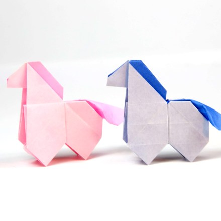 Origami Horse Tutorial - Cute Origami Pony! via @paper_kawaii
