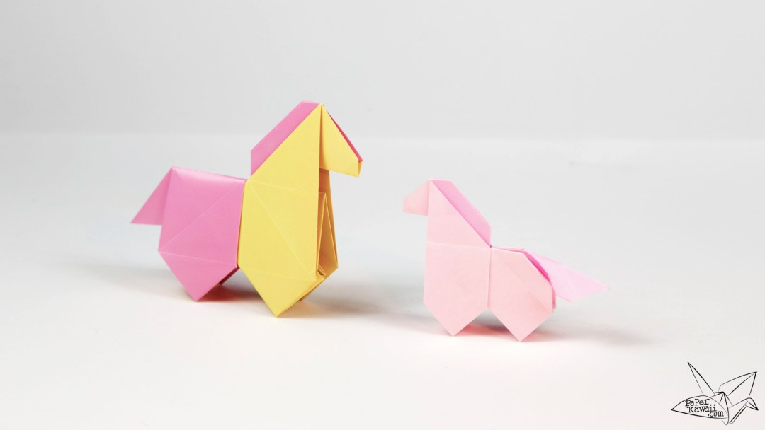 Origami Horse Tutorial - Version 2 - Origami Pony via @paper_kawaii