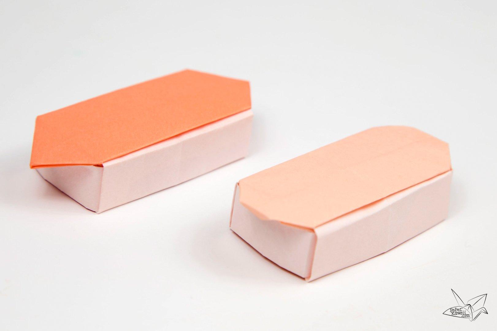 Origami Sushi Boxes Tutorial - Paper Kawaii - photo#5