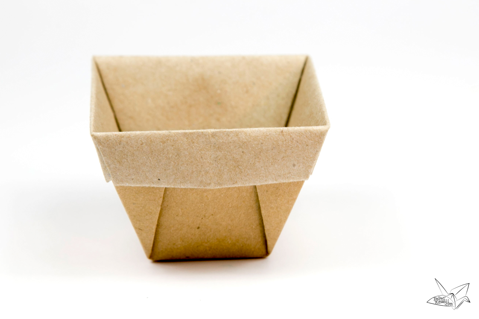 Tapered Origami Box / Origami Plant Pot Tutorial - Paper ... - photo#4