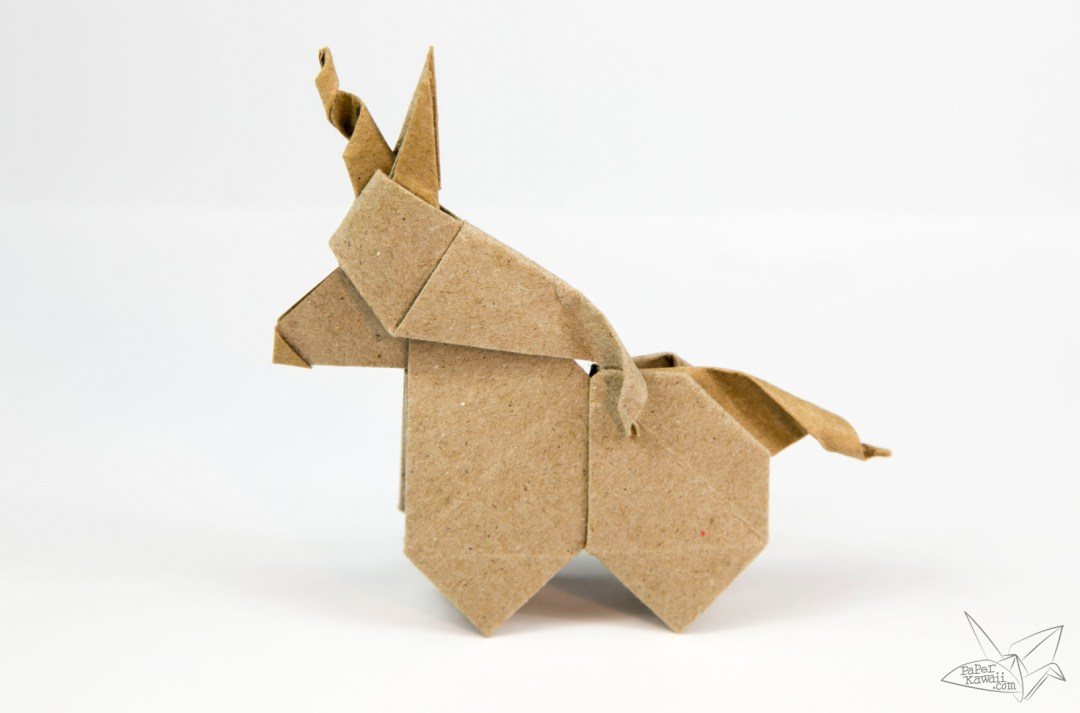 origami unicorn tutorial paper kawaii