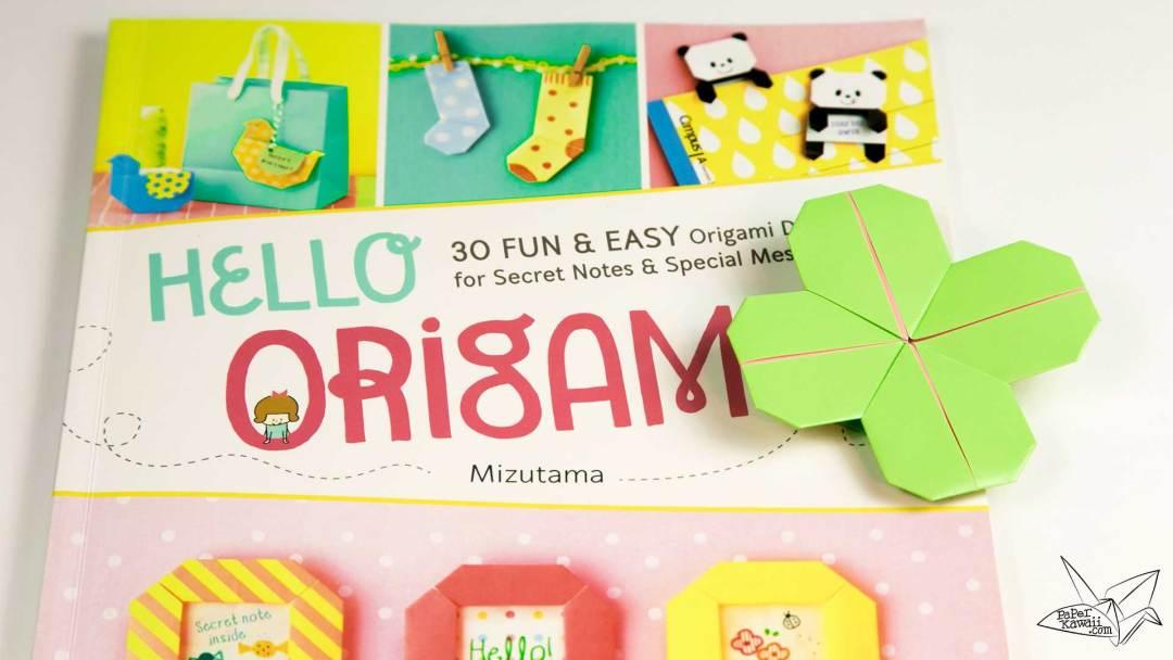 Origami Clover Bookmark Tutorial from Hello Origami by Mizutama via @paper_kawaii