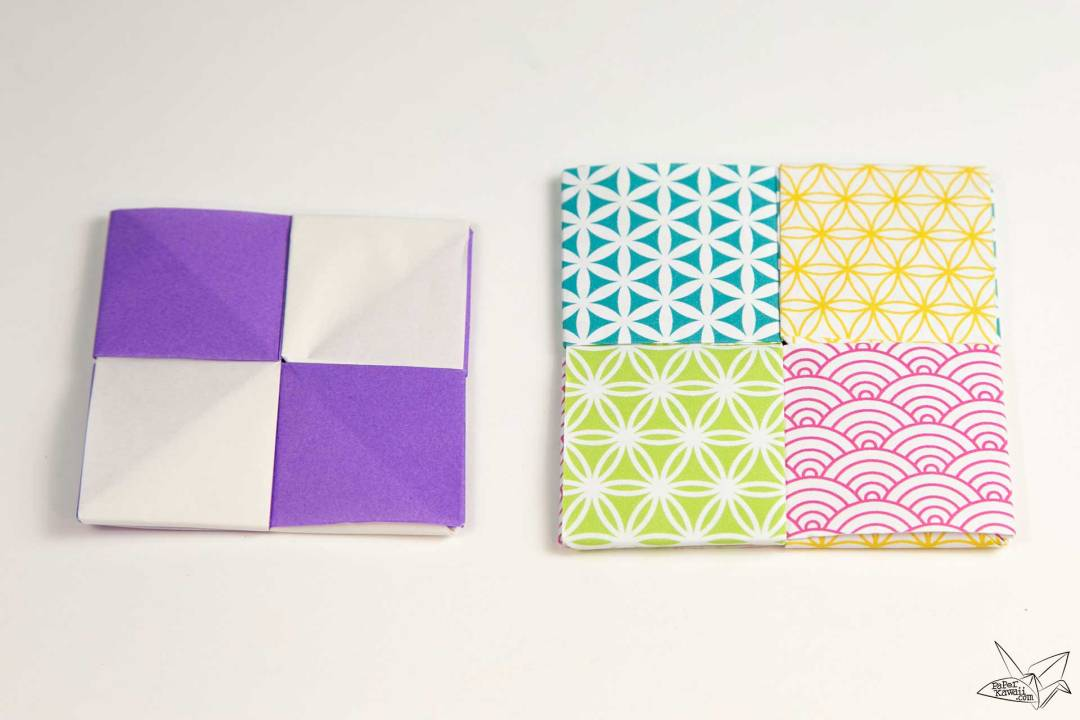 Modular Origami Coaster Tutorial - Sonobe Units