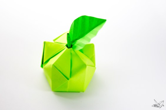3D Origami Apple & Leaf Tutorial